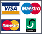 we accept visa, maestro, mastercard and switch